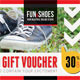 Fun and Shoes Gift Voucher V03 - GraphicRiver Item for Sale