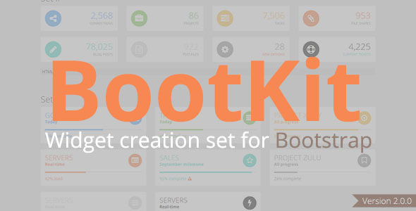 BootKit - Widget creation set for Bootstrap - CodeCanyon Item for Sale