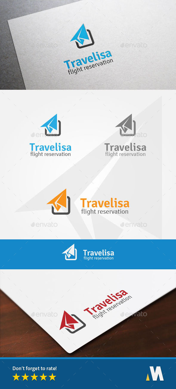 GraphicRiver Air Travel Flight Reservation Logo 10286705