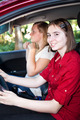 Teenage Girls Driving a Car - PhotoDune Item for Sale