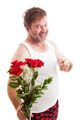 Husband with Valentines Flowers - PhotoDune Item for Sale