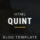 Quint - Premium Mature Blog Template - ThemeForest Item for Sale