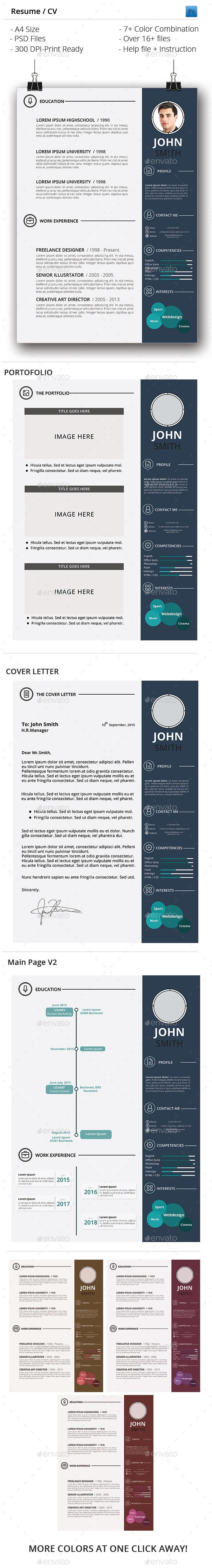 GraphicRiver Resume CV 10286996