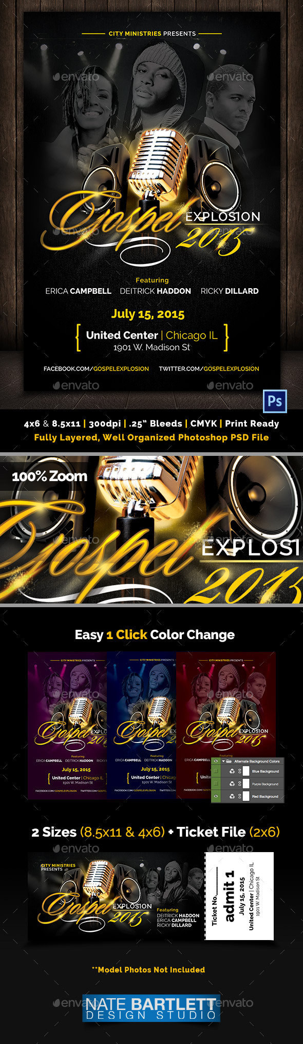 Gospel Explosion Flyer Template