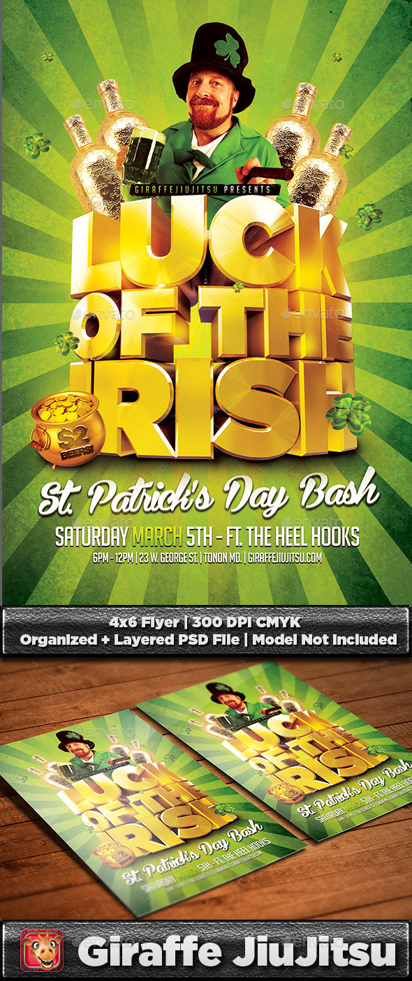 GraphicRiver Luck of the Irish St Patrick s Day Flyer Template 10287554