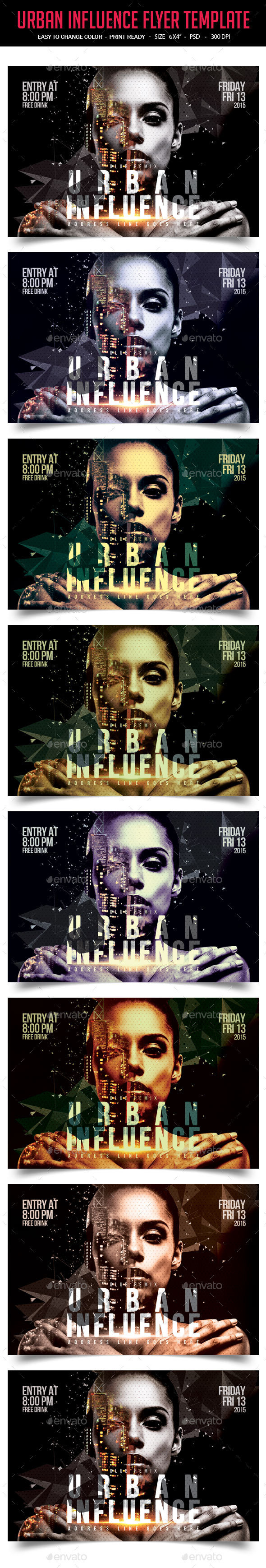 GraphicRiver Urban Influence Party Flyer Template 10287643