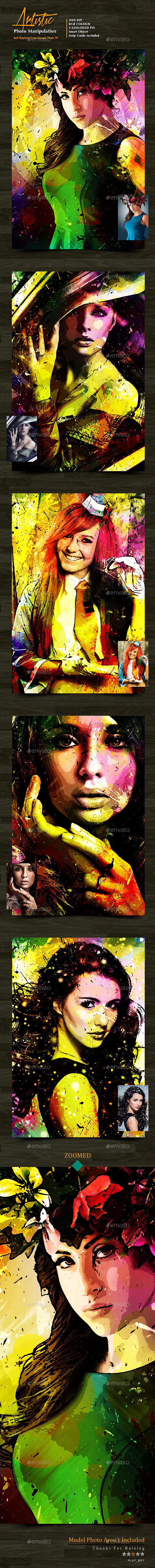 GraphicRiver Artistic Photo Manipulation Template 10287647