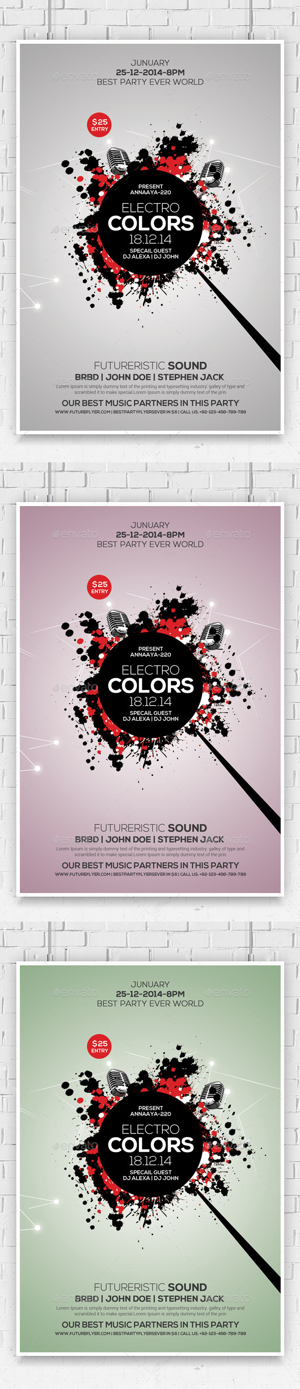 GraphicRiver Minimal Abstract Flyer Templates 10287710