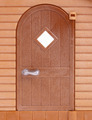 Entrance door of plastic house toy close up - PhotoDune Item for Sale