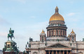 Saint Isaac's Cathedral and the Monument to Emperor Nicholas I, - PhotoDune Item for Sale