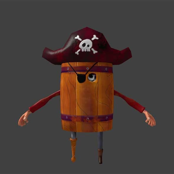 Barrel Pirate  - 3DOcean Item for Sale