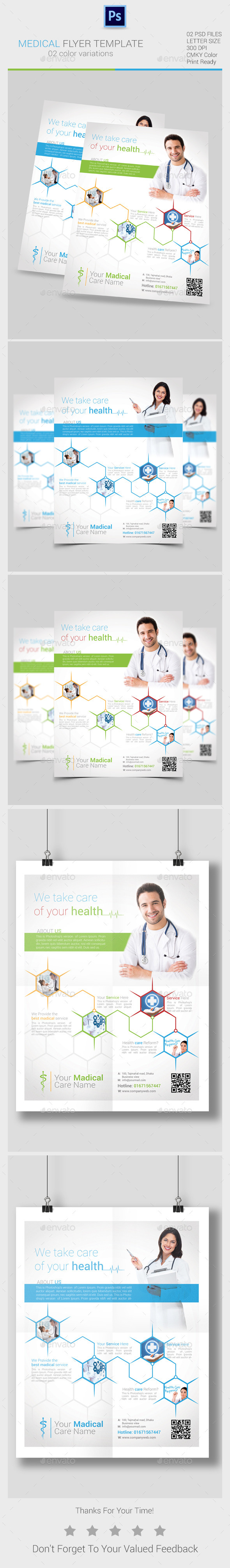 GraphicRiver Medical Flyers Templates 10287851