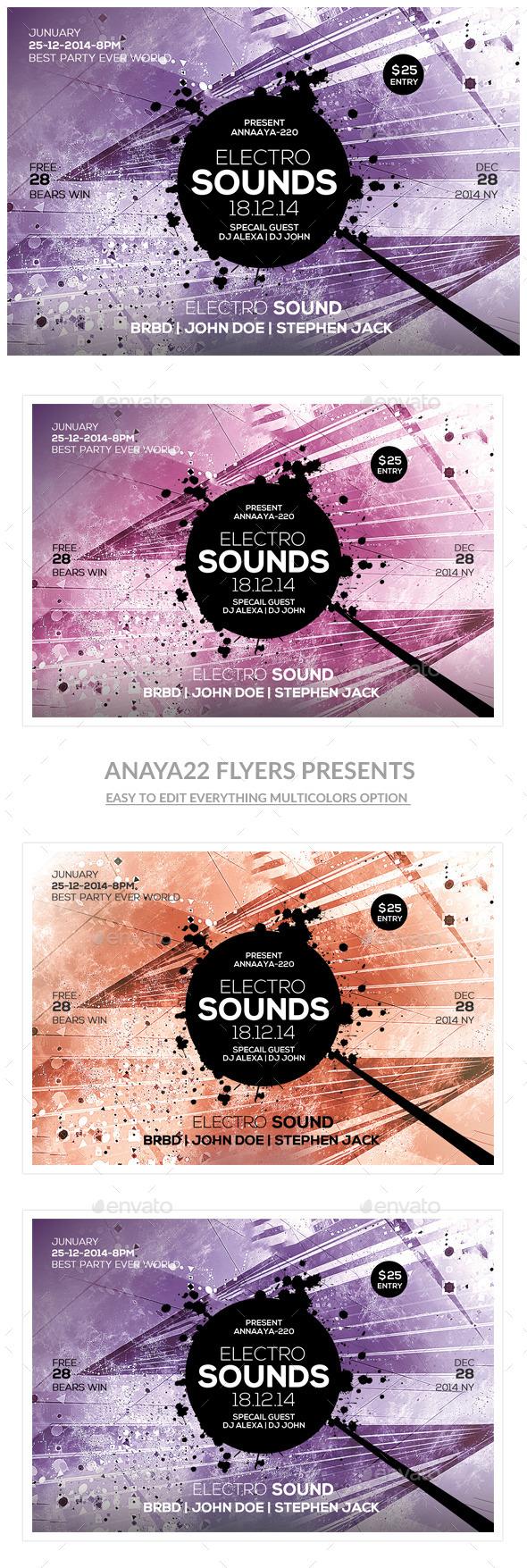 GraphicRiver Futuristic Flyer Templates 10287862