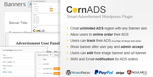 CodeCanyon CornADS Smart Advertsiment Wordpress Plugin 10194065