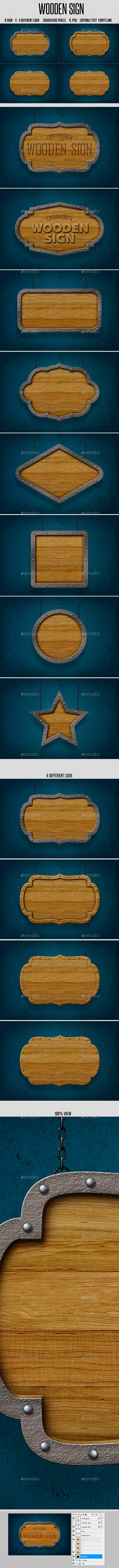 GraphicRiver Wooden Sign 10271306