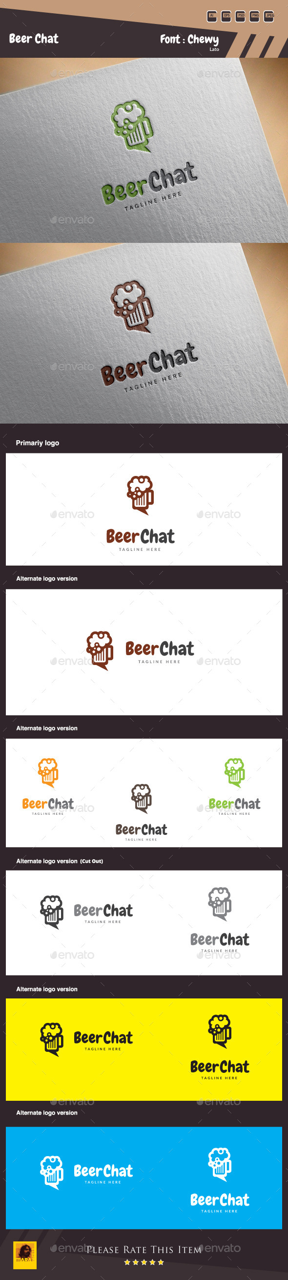 GraphicRiver Beer Chat Logo Template 10288100