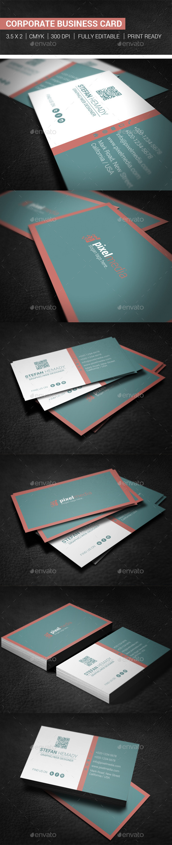 GraphicRiver Corporate Business Card 10288164