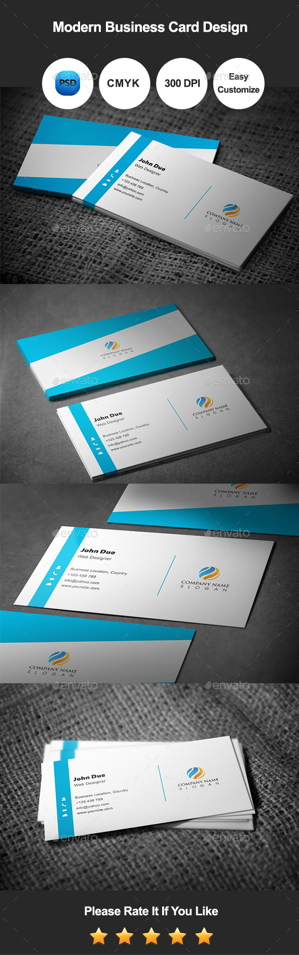 GraphicRiver Modern Business Card Template Design 10288271