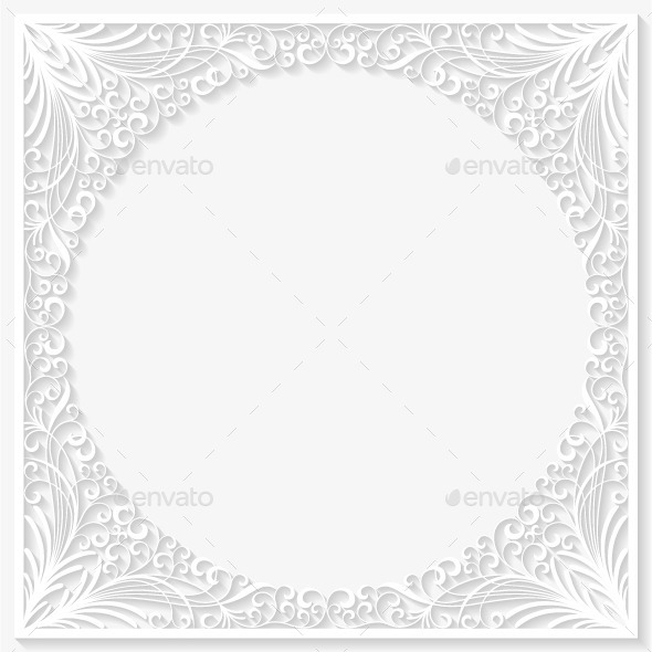 GraphicRiver Abstract Paper Floral Frame 10288968