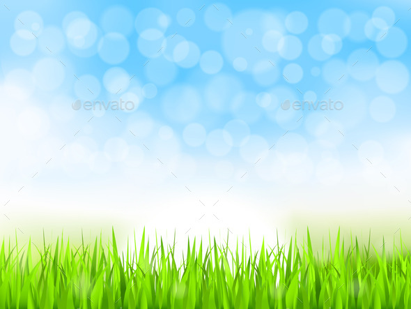 GraphicRiver Green Grass and Blue Sky 10288970