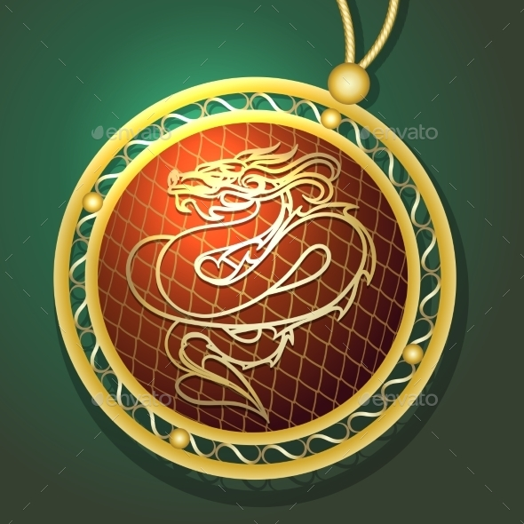 GraphicRiver Dragon Pendant 10288995
