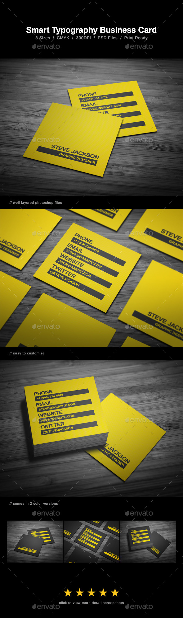 GraphicRiver Smart Typography Business Card 10289126