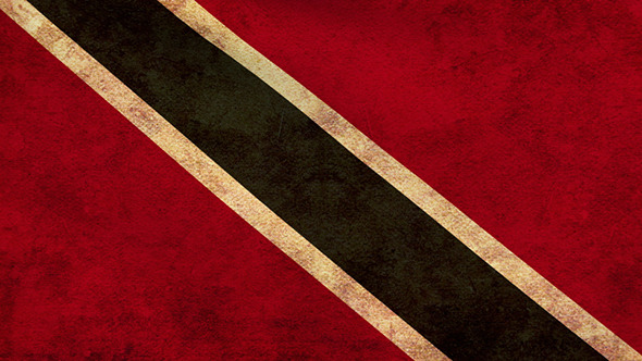 Trinidad and Tobago Flag 2 Pack Grunge and Retro