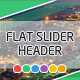 Flat Slider Header Templates