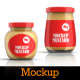 9 Mustard Jars Mockup - GraphicRiver Item for Sale