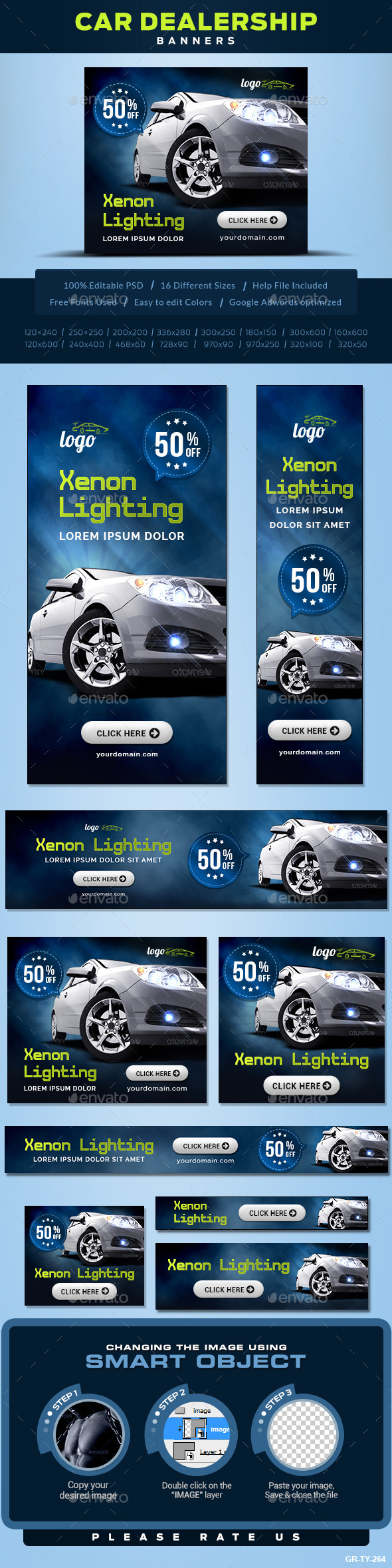 GraphicRiver Car Accessories Banners 10290083