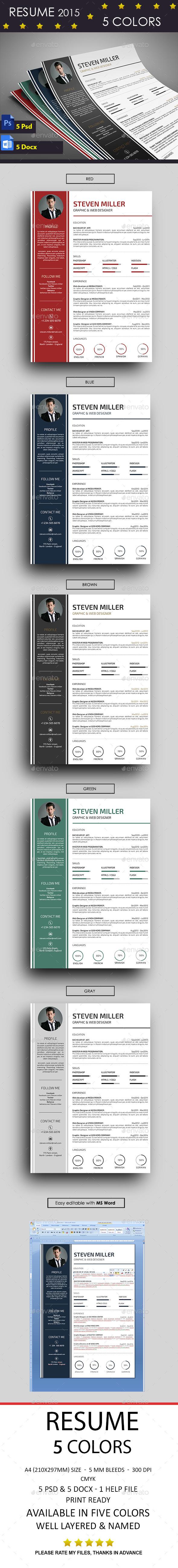 GraphicRiver Resume 10290104