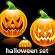 Halloween pumpkins family icons - GraphicRiver Item for Sale