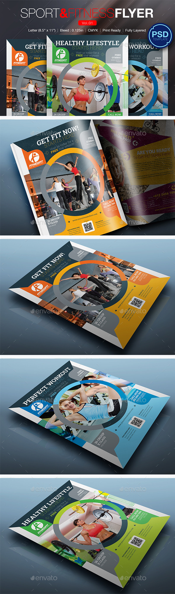 GraphicRiver Sport & Fitness Flyer Vol.01 10290182