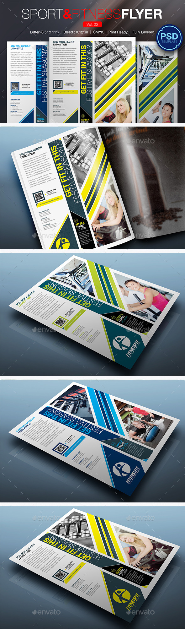 GraphicRiver Sport & Fitness Flyer Vol.02 10290192