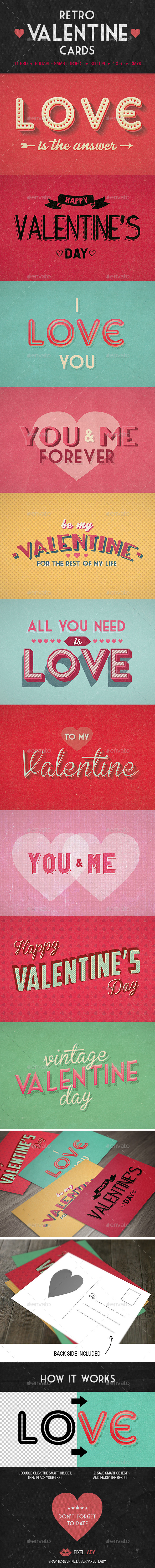 Retro Valentine Cards