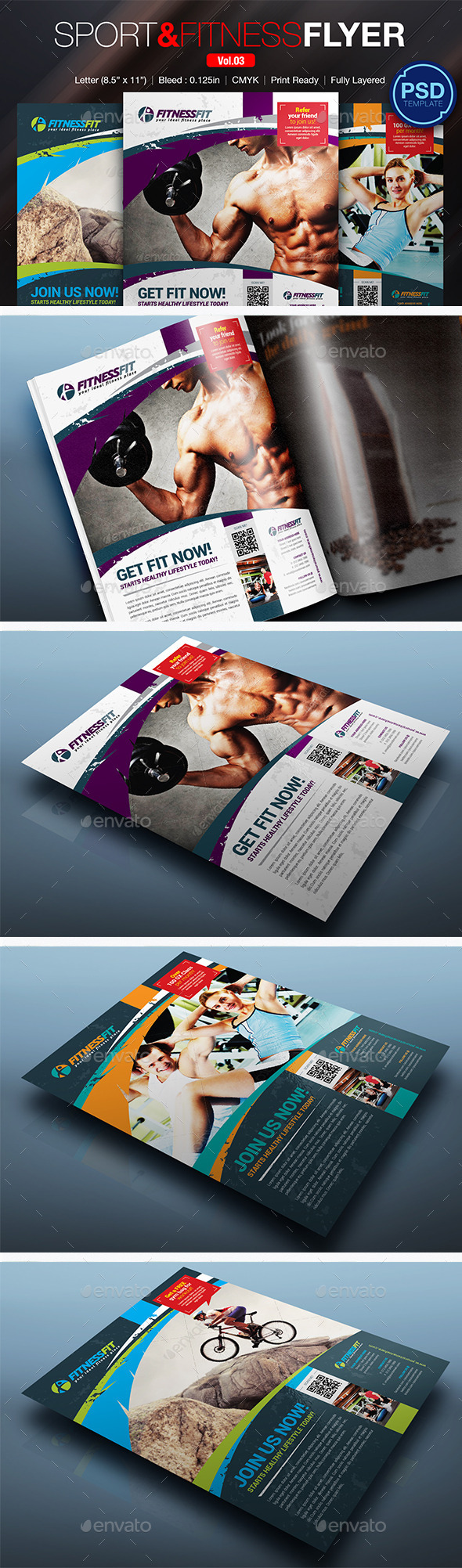 GraphicRiver Sport & Fitness Flyer Vol.03 10290209