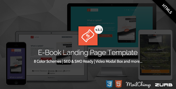 UpSell - E-Book Landing Page  - Marketing Corporate