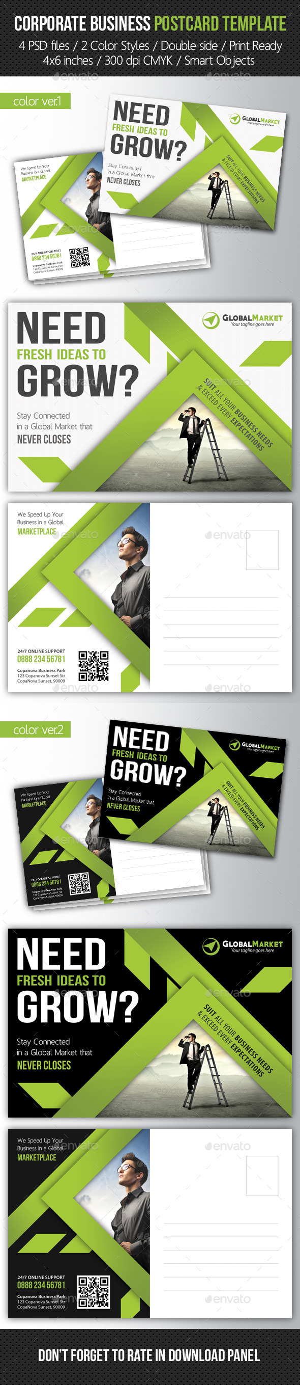 GraphicRiver Corporate Business Postcard Template V04 10290231