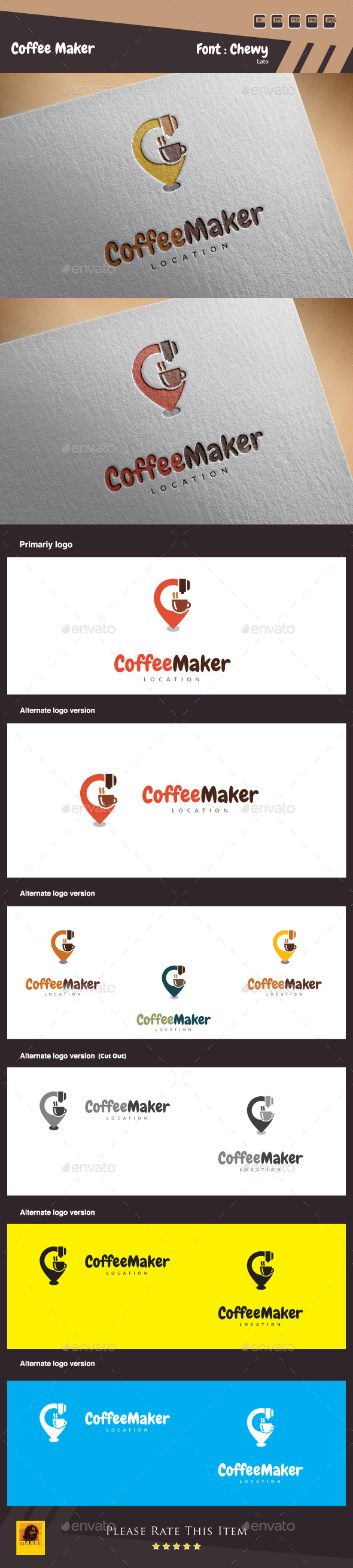 Coffee Maker Logo Template
