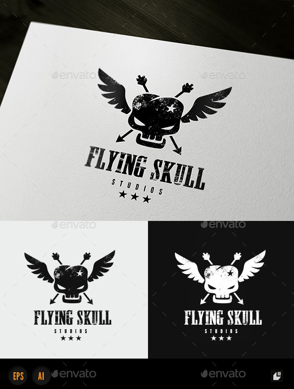 GraphicRiver Flying Skull 10290331