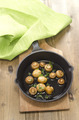 grilled mushrooms in a cast iron pan - PhotoDune Item for Sale
