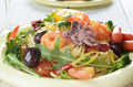 Seafood spaghetti pasta dish with octopus and shrimps - PhotoDune Item for Sale
