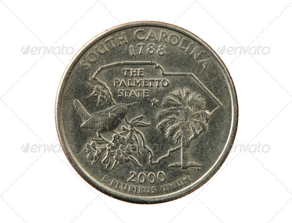 North Carolina quarter - Stock Photo - Images