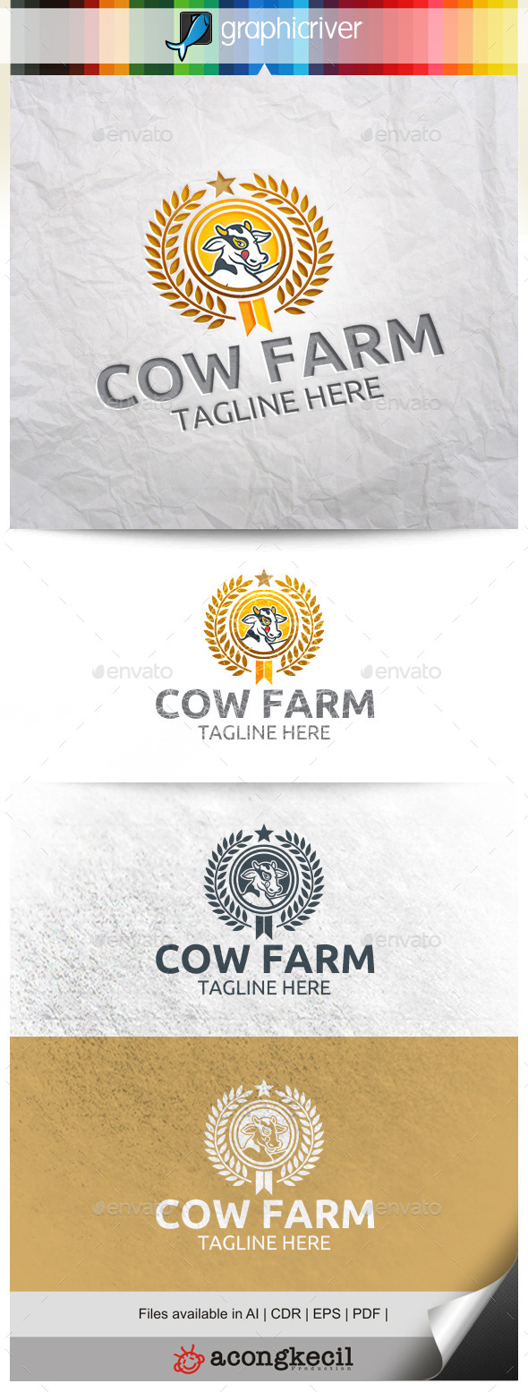 GraphicRiver Cow Farm 10290719