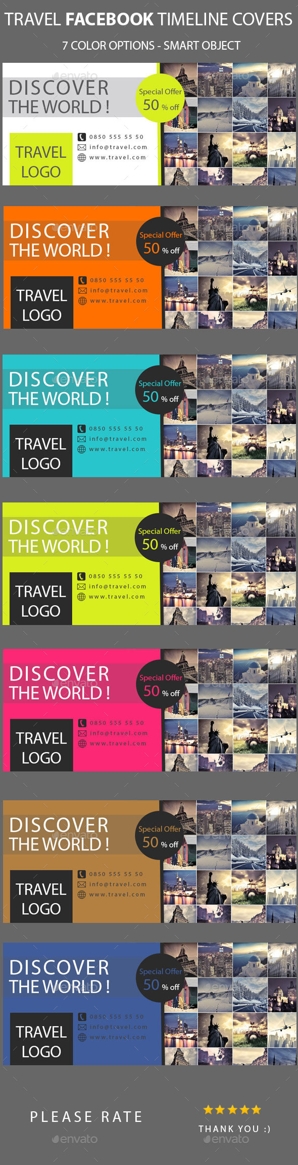 GraphicRiver Travel Facebook Timeline Covers 10290780