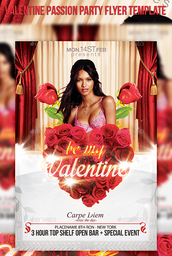 GraphicRiver Valentine Passion Party Flyer Template 10291387