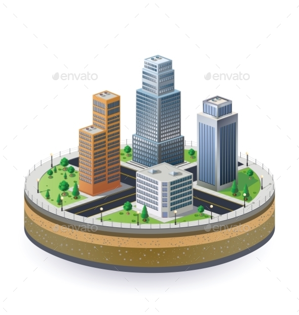 GraphicRiver Fragment of the City 10291612