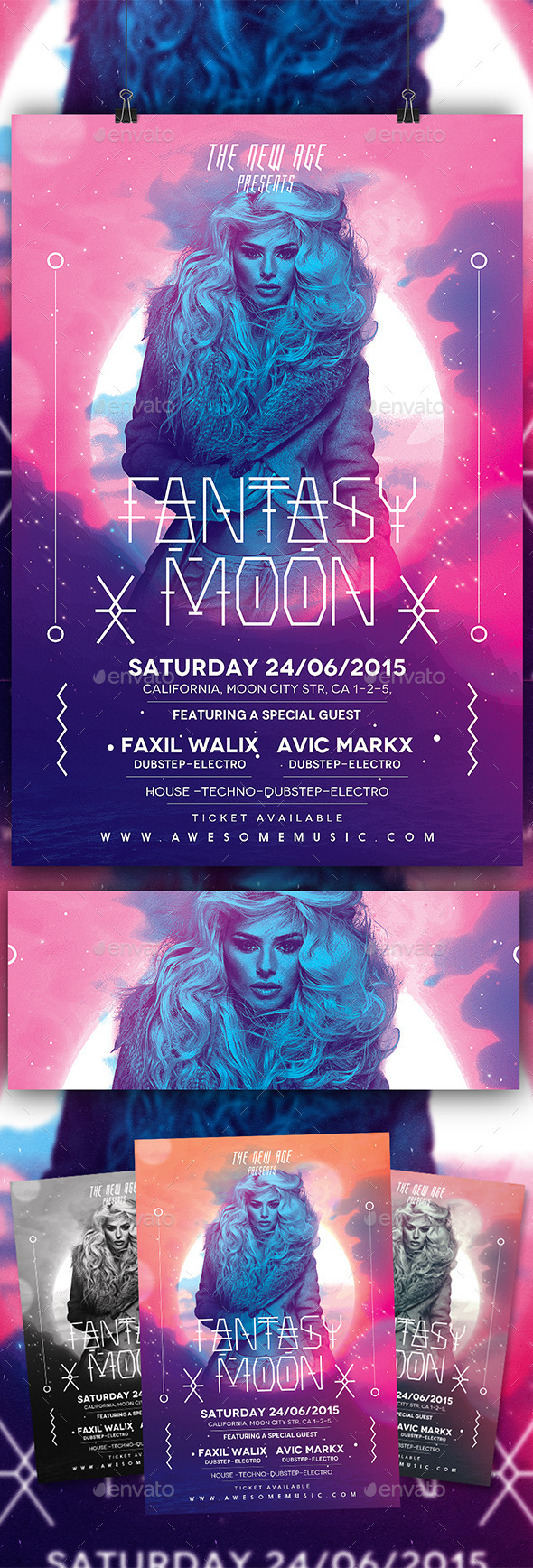 GraphicRiver Modern Flyer Fantasy Moon 10291722