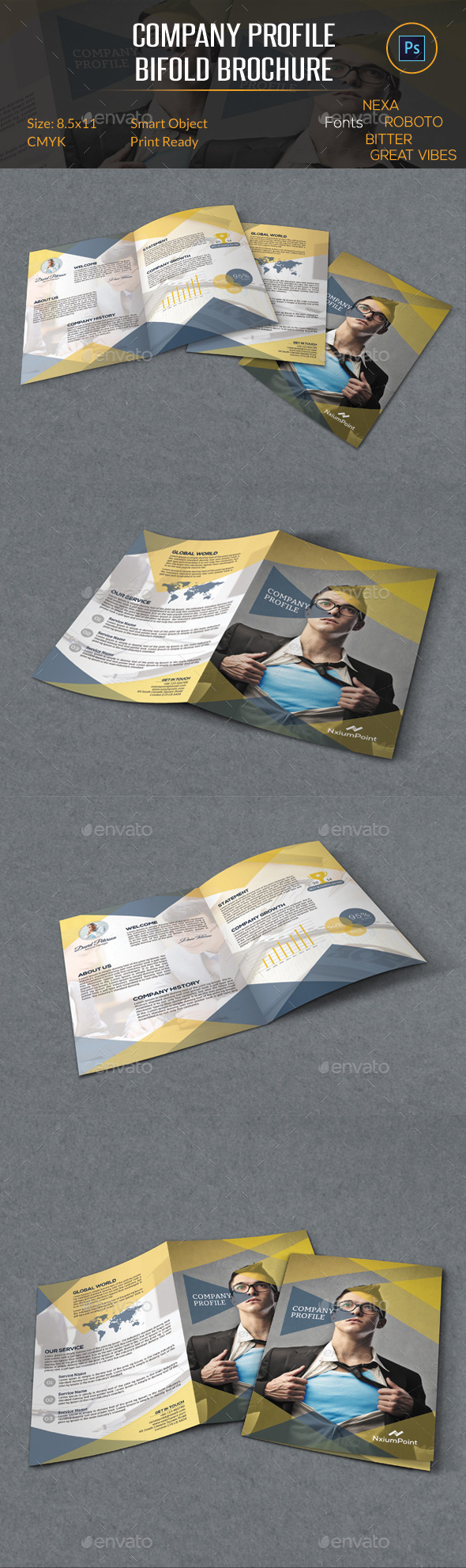 GraphicRiver Company Profile Bifold Brochure 10292391