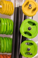Colorful new weights in a gym or shop - PhotoDune Item for Sale